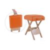 Πτυσσόμενο σκαμπό ξύλινο σε πορτοκαλί χρώμα