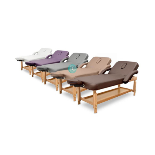 Κρεβάτι αισθητικής με ρυθμιζόμενο ύψος και ανάκλιση πλάτης