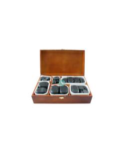 Πέτρες μασάζ hot stone 45τμχ για μασάζ σε όλο το σώμα