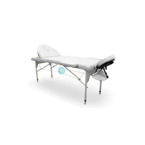 Φορητό κρεβάτι βαλίτσα αλουμινίου με ανάκλιση και θήκη μεταφοράς