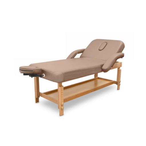 Ξύλινο κρεβάτι μασάζ με ανάκλιση πλάτης και ρυθμιζόμενο ύψος