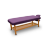 Ξύλινο κρεβάτι αισθητικής με ρυθμιζόμενο ύψος με ανθεκτική βάση και υψηλής ποιότητας και αντοχής ταπετσαρία