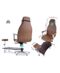 καρέκλα πεντικιούρ με υποπόδιο