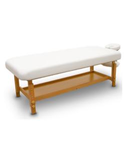 Σταθερό ξύλινο κρεβάτι με ρυθμιζόμενο ύψος και κάτω ράφι