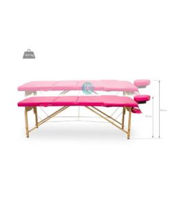 Φορητό κρεβάτι με ανάκλιση πλάτης, ρυθμιζόμενο ύψος και θήκη μεταφοράς
