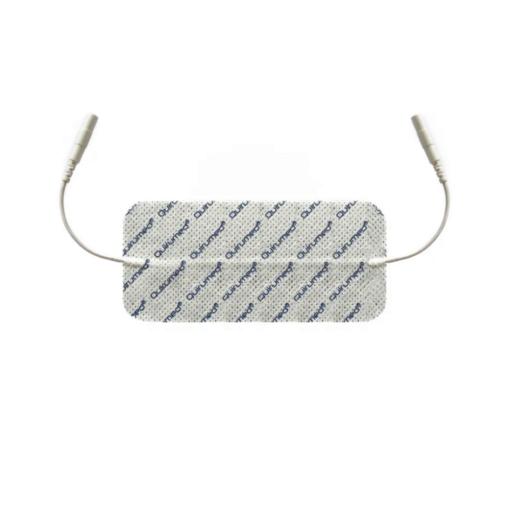 Αυτοκόλλητα ηλεκτρόδια TENS - EMS με διπλή έξοδο, εύκολα στη χρήση και αφαίρεσή τους.