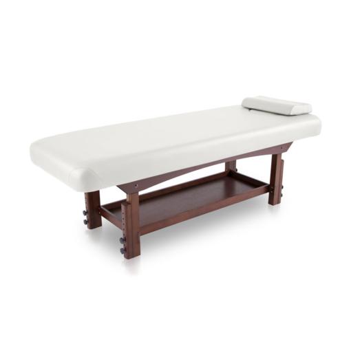 σταθερό κρεβάτι spa με ξύλινη βάση wenge χρώματος