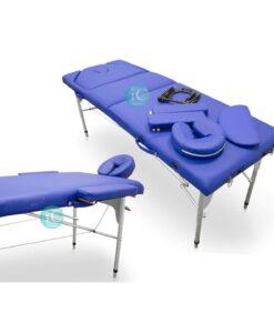 Φορητό κρεβάτι μασάζ αλουμίνιο με ανάκλιση