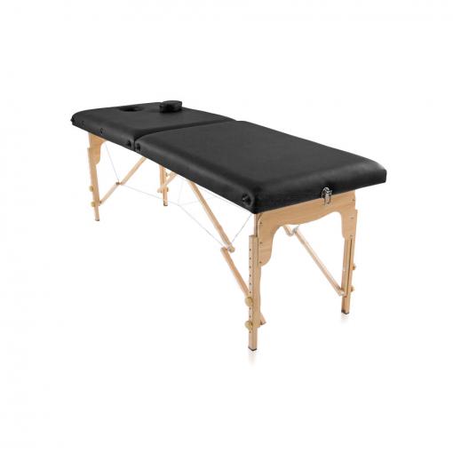 φορητό κρεβάτι μασάζ μαύρο ξύλινο