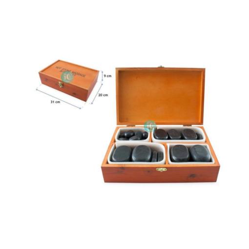 Πέτρες μασάζ hot stone 36τμχ