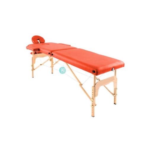 Φορητό κρεβάτι μασάζ ξύλινο με θήκη μεταφοράς και αξεσουάρ