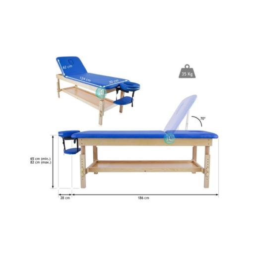 Σταθερό ξύλινο κρεβάτι,για φυσικοθεραπεία,μασάζ