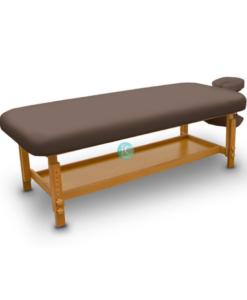 Σταθερό ξύλινο κρεβάτι massage spa με ρυθμιζόμενο ύψος