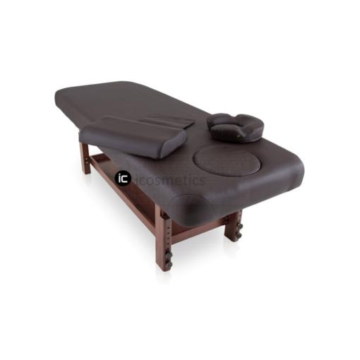 Κρεβάτι Spa με ξύλινη βάση wenge χρώματος