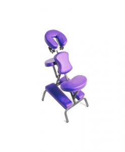 Φορητή καρέκλα μασάζ φυσικοθεραπείας μωβ