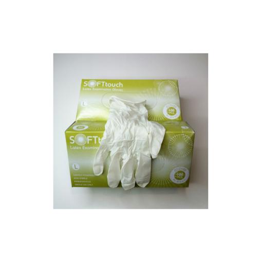 Εξεταστικά γάντια μιας χρήσης LARGE με σήμανση CE