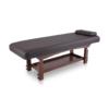 σταθερό κρεβάτι αισθητικής spa με ξύλινη βάση wenge χρώματος