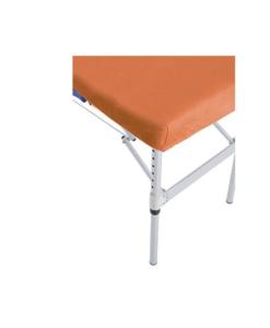 Κάλυμμα κρεβατιού με λάστιχο από βαμβάκι και πολυεστέρα σε πορτοκαλί χρώμα
